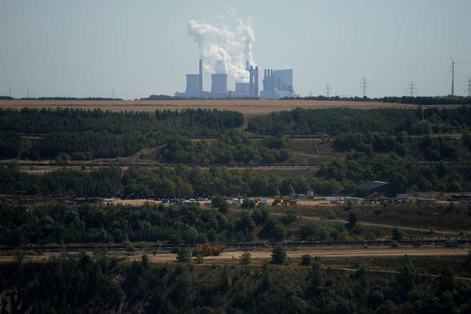 La centrale à charbon (lignite) d'Immerath en Allemagne, le 5 août 2013.