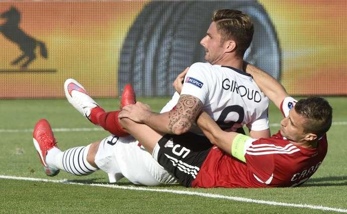 Les Bleus d'Olivier Giroud (photo) et Didier Deschamps n'ont pas gagné en deux confrontations avec l'Albanie.