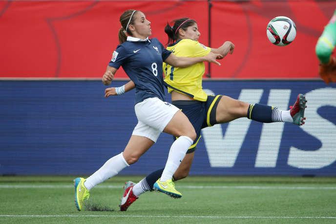 Les Françaises n'ont pas réussi à concrétiser leurs occasions face à une équipe colombienne très solide.