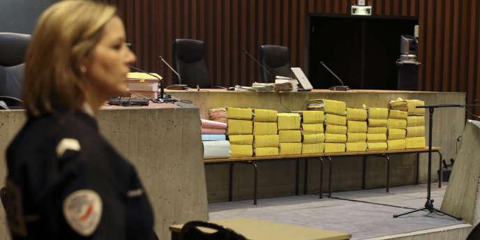 Au tribunal de Lille, le 2 février, lors du procès de quatorze personnes,  dont Dominique Strauss-Kahn  jugé pour