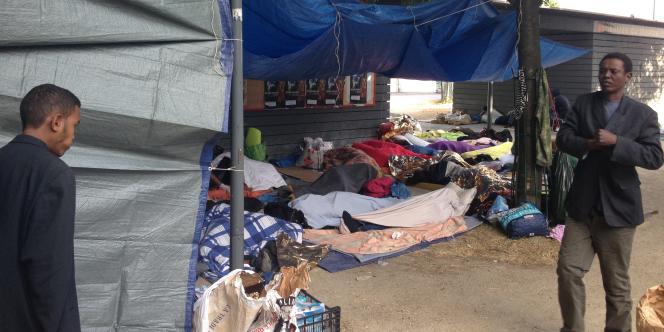 Au campement rue d'Eole, samedi 13 juin.