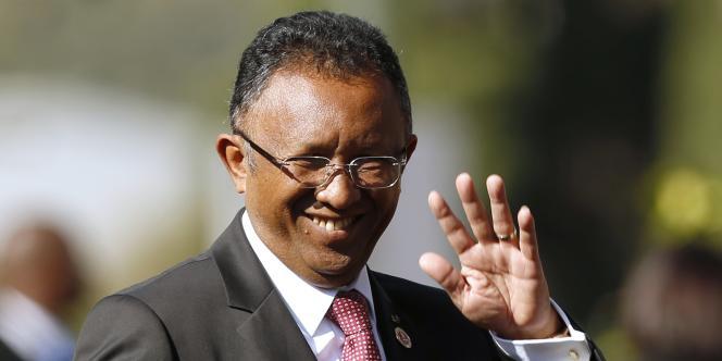 Le président malgache Hery Rajaonarimampianina le 24 mai 2014.