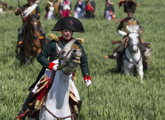 Reconstitution de la bataille de Waterloo, en juin 2015, à Ligny, en Belgique.