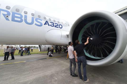 Un A320neo, près de Toulouse.