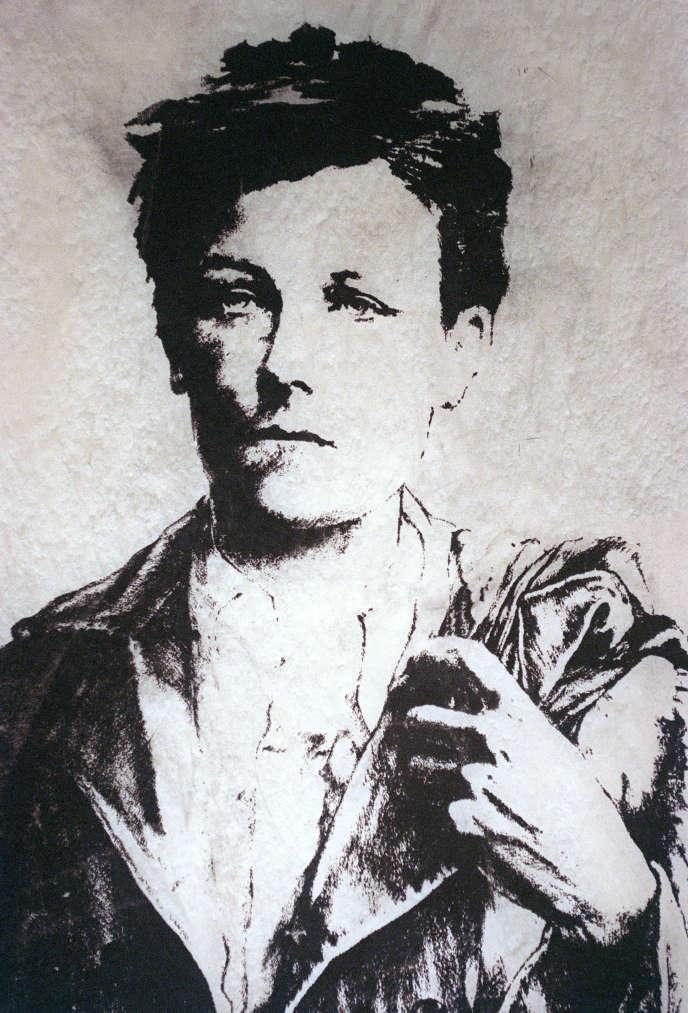 Une oeuvre représentant le poète Arthur Rimbaud au musée Rimbaud à Charleville-Mézières.