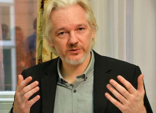 Julian Assange en août 2014, à l'ambassade d'Equateur à Londres.
