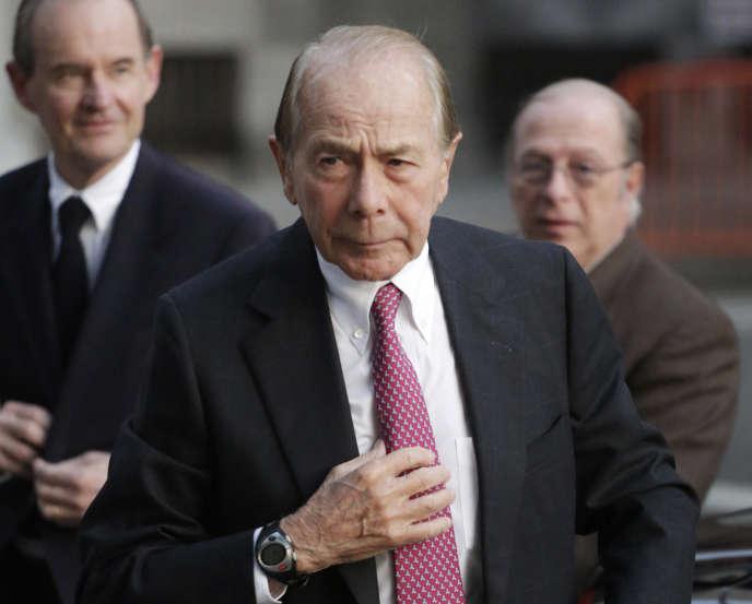 Maurice Greenberg, l'ancien PDG de l'assureur American International Group (AIG).