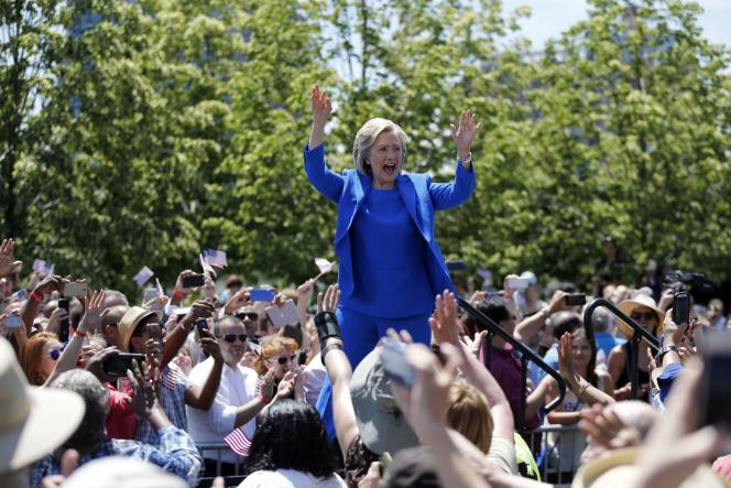 Hillary Clinton, lors d'un meeting à New York, samedi 13juin.