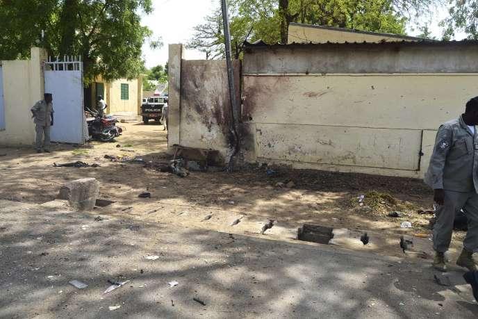 Site d'un des deux attentats-suicide du 15 juin 2015 à N'Djamena, Tchad.