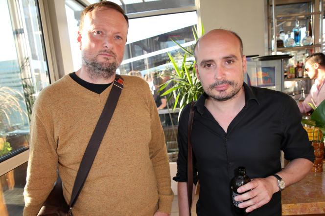 Le producteur Andrew Starke et le réalisateur Peter Strickland (à droite) au festival international du film de Toronto, le 8 septembre 2014.