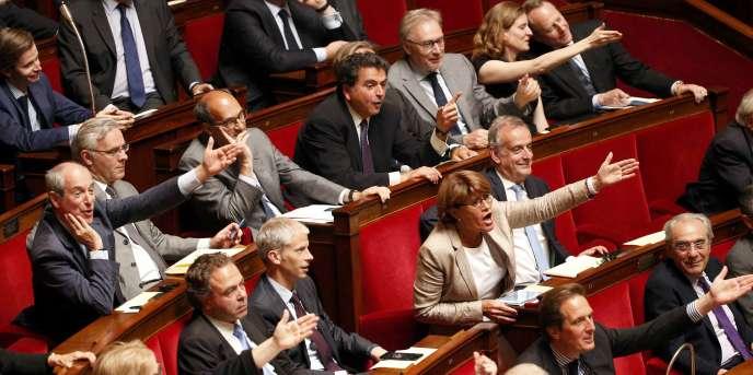 Des députés (Les Républicains), le 16 juin à l'Assemblée nationale.