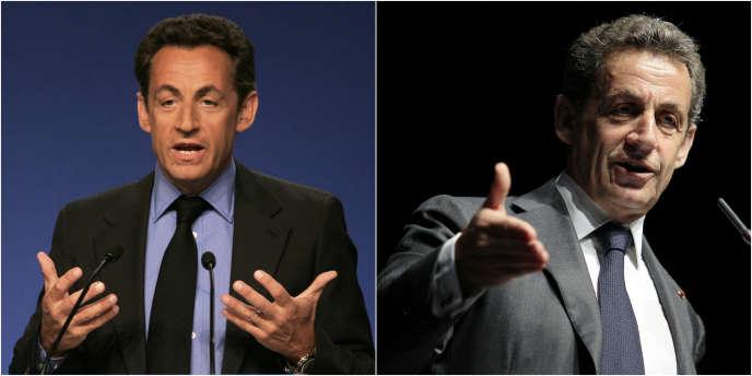 Nicolas Sarkozy en mai 2007 et en avril 2015.