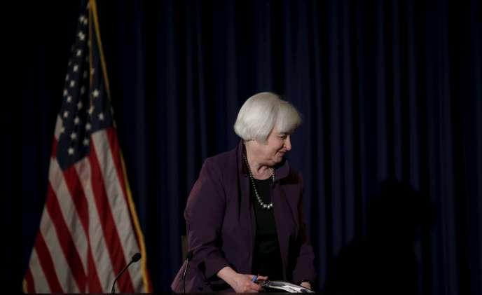 Janet Yellen, présidente du Conseil des gouverneurs de la Réserve fédérale américaine (Fed, banque centrale).