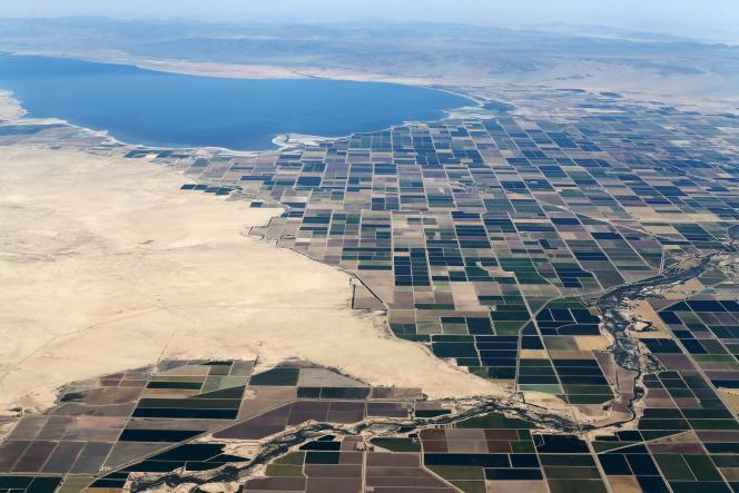 Les terrains agricoles près de la mer Salton à Calipatria en Californie, le 31 mai 2015.