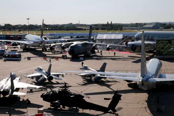 Le Salon mondial de l'aéronautique, qui se tient auBourget, le16juin.