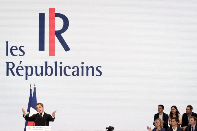 Congrès fondateur du nouveau parti de droite Les Républicains à la porte de la Villette à Paris, le samedi 30 mai 2015 .