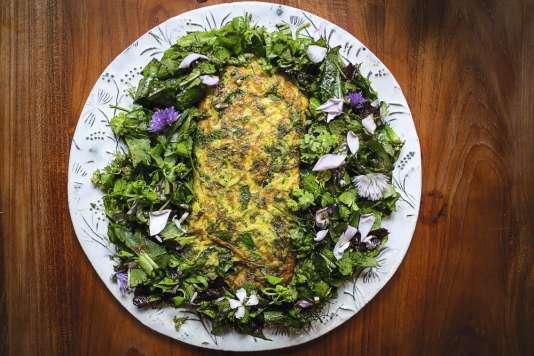 Omelette-salade : la recette express de Pierre-Alexandre Risser