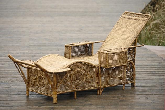 Chaise longue Vauclair (production américaine, début du XXe siècle).
