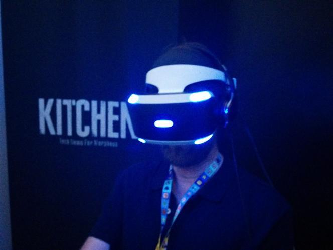 Le casque Morpheus de Sony, à l'E3 2015.