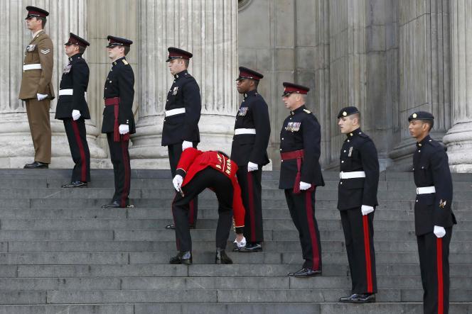 Commémorations de la bataille de Waterloo à la cathédrale Saint-Paul de Londres jeudi 18 juin.