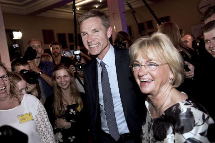 Le leader du Parti du peuple danois, Thulesen Dahl,  à son arrivée à la soirée électorale de son mouvement, le 18 juin. AFP PHOTO / SCANPIX DENMARK / LINDA KASTRUP