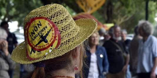 Lors d'une manifestation contre le projet d'aéroport à Notre-Dame-des-Landes le 18 juin.