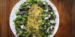 L'omelette-salade de Pierre-Alexandre Risser.