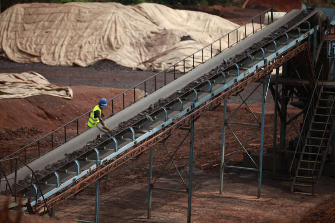 La mine de manganèse de Lauzoua  à 180 km d'Abidjan.