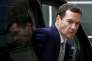 Le chancelier de l'Echiquier George Osborne,  lors de la réunion des ministres européens des finances  à Luxembourg, le 19 juin.