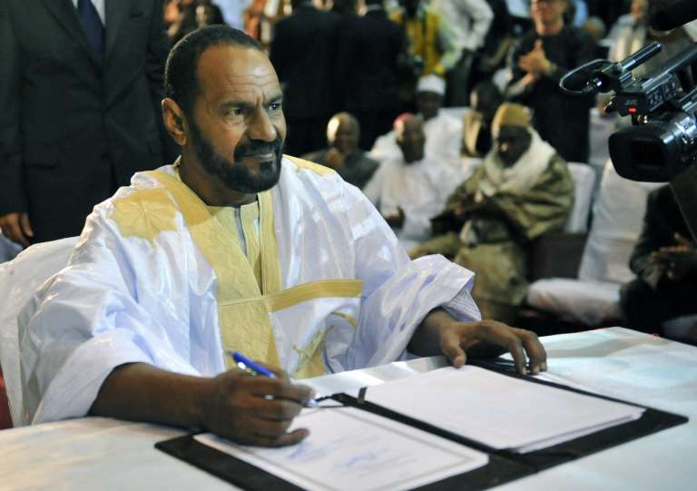 Sidi Brahim Ould Sidati, membre de l'AZAWAD, lors de la signature de l'accord du 20 juin 2015.