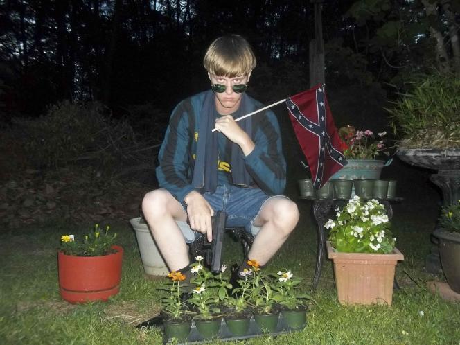 Photo publiée sur le site Internet attribué au tireur présumé de Charleston.