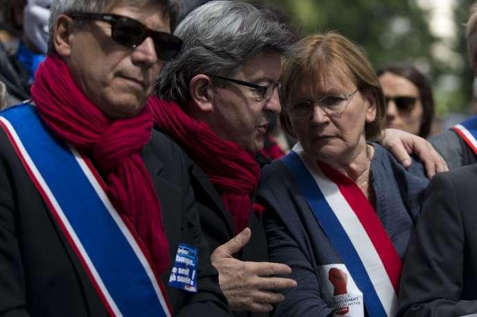 Jean-Luc Mélenchon et Marie-Georges Buffet, lors d'une manifestation en juin 2015.