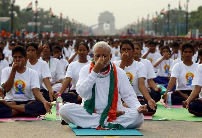 Narendra Modi, le 21 juin à New Delhi.