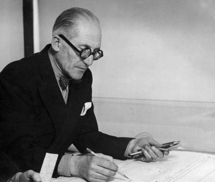 Charles-Edouard Jeanneret dit Le Corbusier (1887-1966) en 1961.