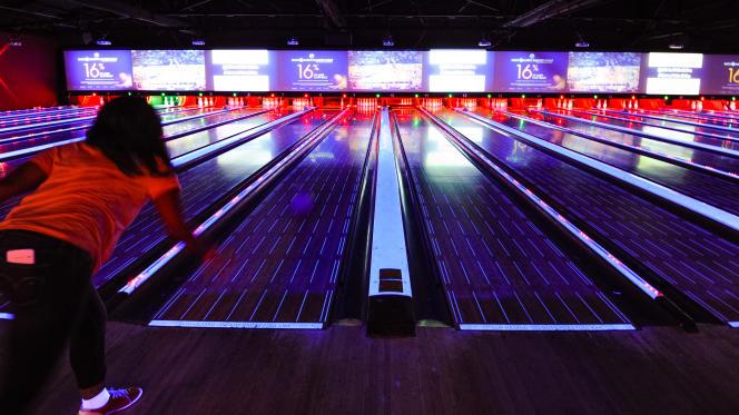 Dans un bowling californien, aux Etats-Unis, en mars 2015.