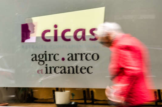 Une agence de l'Agirc-Arrco à Lille.