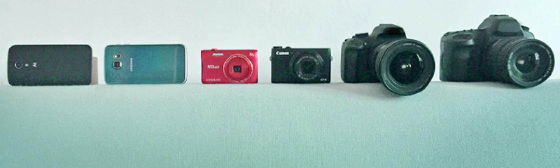 Les six appareils que nous avons comparés.