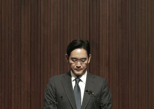 Lee Jae-yong,  le fils et héritier du patron de Samsung, Lee Kun-hee, dit « Chairman Lee », à Séoul, le 23 juin.