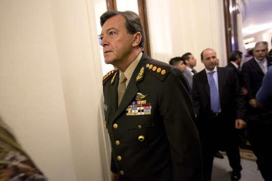 Le général César Milani à Buenos Aires, en 2015.