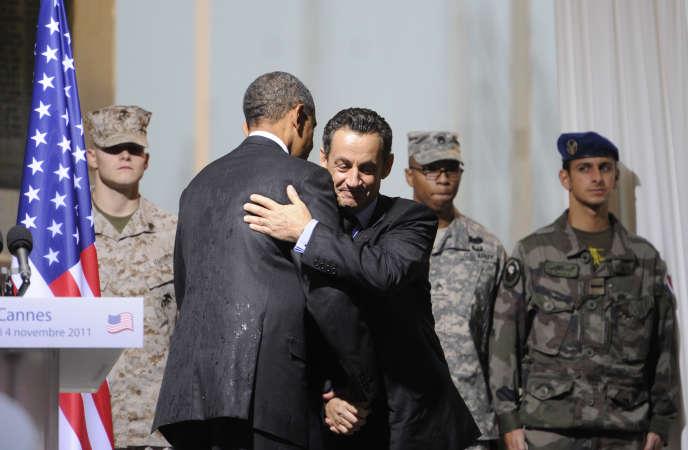 Barack Obama et Nicolas Sarkozy à Cannes, en novembre 2011.
