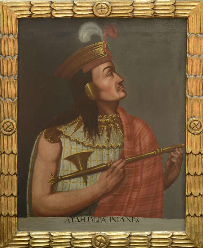 Portrait d'Atahualpa  datant du XIX ème siècle (auteur anonyme).