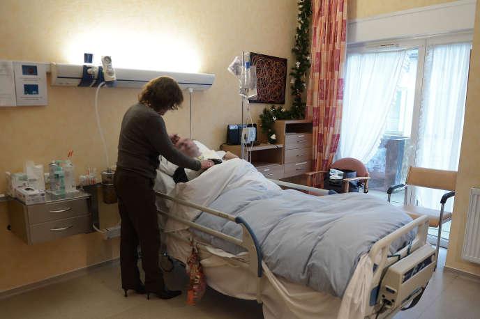 Un patient en état végétatif à Oberhausbergen, en décembre 2014.
