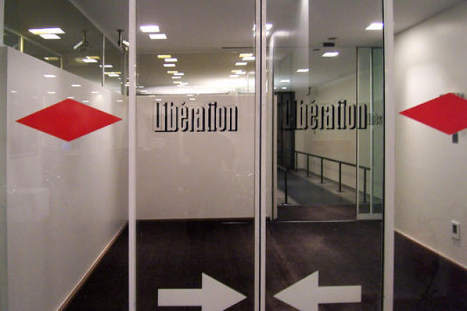 Le hall d'entrée de « Libération », rue Béranger à Paris.