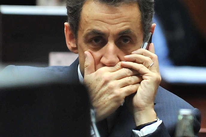 Nicolas Sarkozy, alors président de la République, en décembre 2009 à Bruxelles.