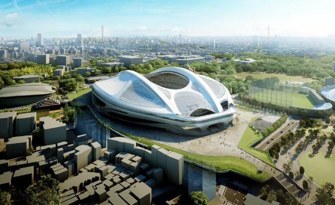 Le projet de Zaha Hadid pour le stade olympique des JO de Tokyo en 2020.