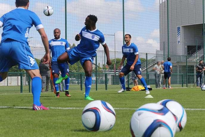 Entraînement au stade de l'Aube, à Troyes, le 24juin.