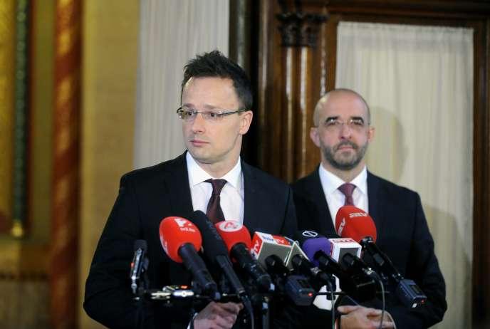 Le ministre des affaires étrangères hongrois, Péter Szijjarto, le 24 juin 2015.