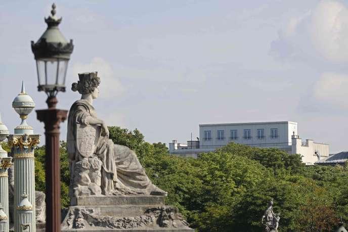 L'ambassade des Etats-Unis à Paris le 24 juin.