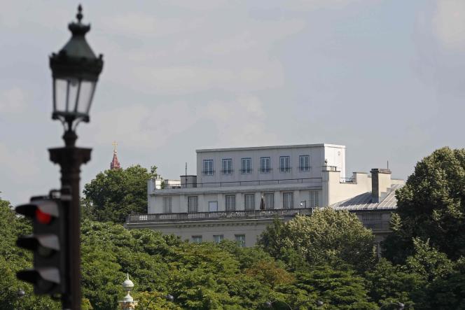 L'ambassade des Etats-Unis, à Paris, le 24 juin.
