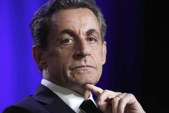 L'ancien président de la République, Nicolas Sarkozy, à Asnières en mai.